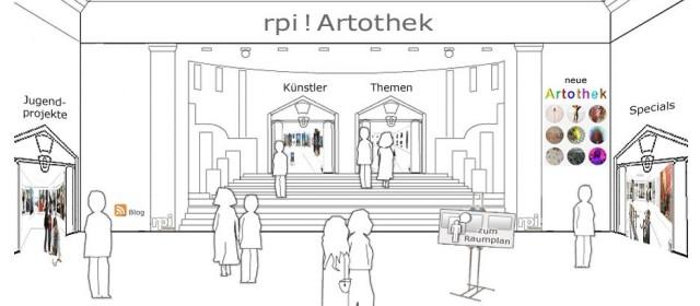Foyer der alten rpi ! Artothek