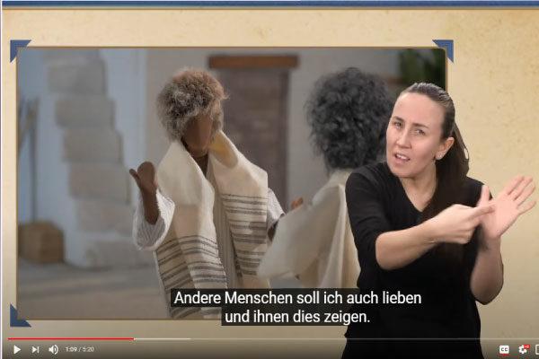 [Videos] Jesus-Geschichten für gehörlose Kinder auf YouTube